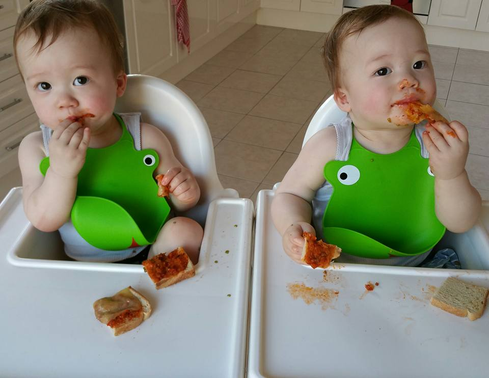 Finger food ideas for babies and toddlers twins and a blog getting into their pizza pockets forumfinder Image collections